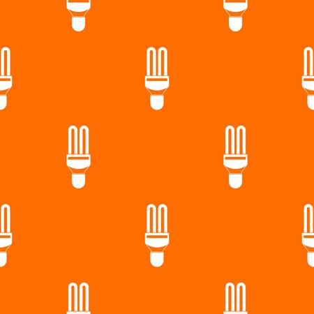 kilowatt: Fluorescence lamp pattern repeat seamless in orange color for any design. Vector geometric illustration