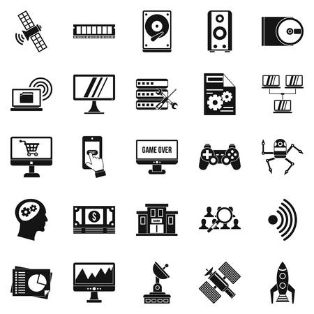 querying: Manual icons set. Simple set of 25 manual vector icons for web isolated on white background
