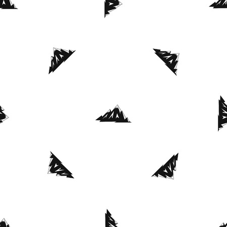 Canadian mountains pattern repeat seamless in black color for any design. Vector geometric illustration