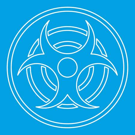 security symbol: Biohazard sign icon, outline style