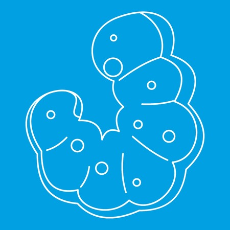 Maggot icon blue outline style isolated vector illustration. Thin line sign