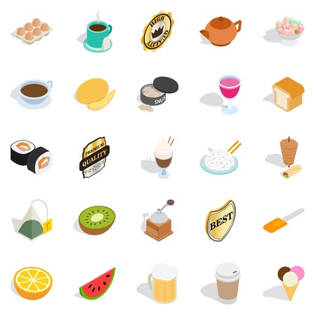 quencher: Quencher icons set, isometric style