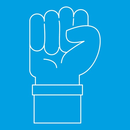 Fist icon, outline style