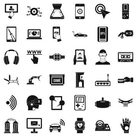 penknife: Internet adjustment icons set, simple style Illustration