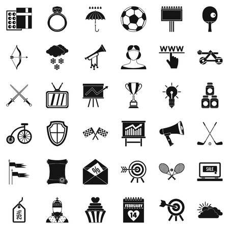 Ensemble d'icônes de flèche et d'arc. Style simple de 36 icônes flèche et arc vecteur pour web isolé sur fond blanc Banque d'images - 84110580