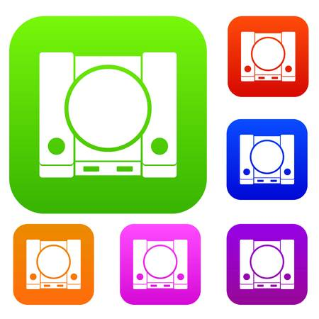 set icon in different colors isolated vector illustration. Premium collection Illustration