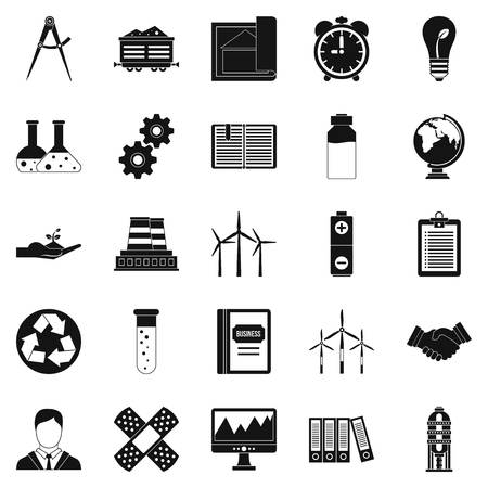 office building: Expenses icons set. Simple set of 25 expenses vector icons for web isolated on white background Illustration