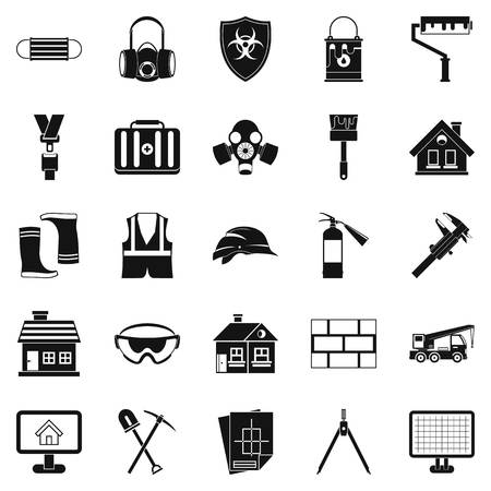 Concern icons set. Simple set of 25 concern vector icons for web isolated on white background Ilustracja