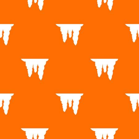 Icicles pattern repeat seamless in orange color for any design. Vector geometric illustration