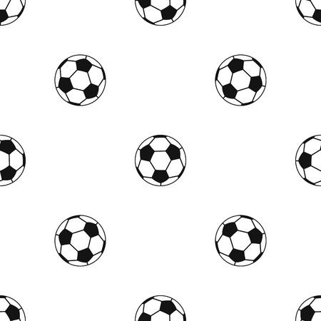 obelisco: Soccer ball pattern repeat seamless in black color for any design. Vector geometric illustration Illustration