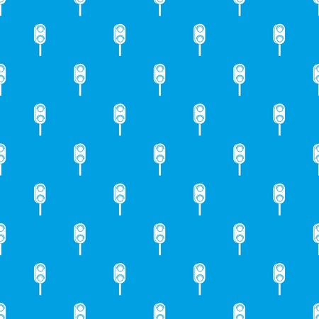 regulate: Semaphore trafficlight pattern repeat seamless in blue color for any design. Vector geometric illustration Illustration
