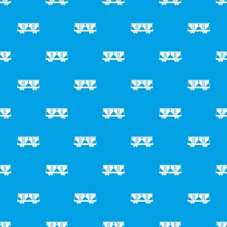 boxcar: Freight railroad car pattern repeat seamless in blue color for any design. Vector geometric illustration Illustration