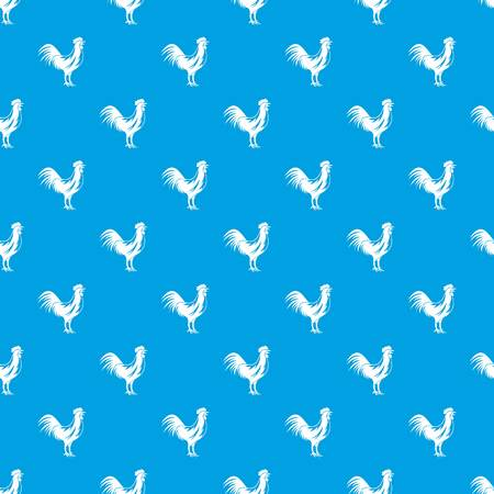 Gallic rooster pattern seamless blue