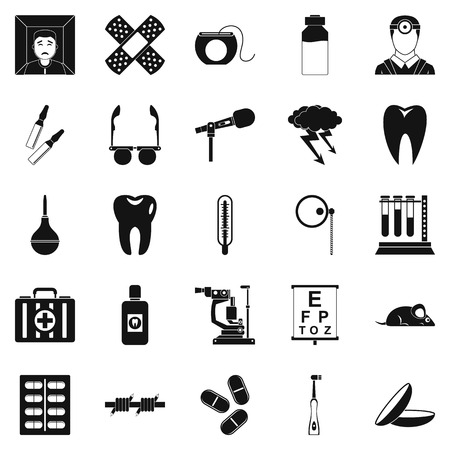 medico: Medico icons set, simple style Illustration