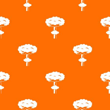 nuke: Nuclear explosion pattern repeat seamless in orange color for any design. Vector geometric illustration Illustration