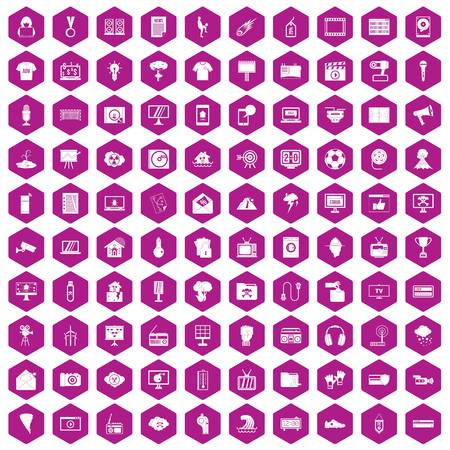 poppers: 100 TV icons hexagon violet