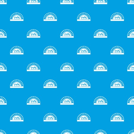 Pizza oven with fire pattern repeat seamless in blue color for any design. Vector geometric illustration