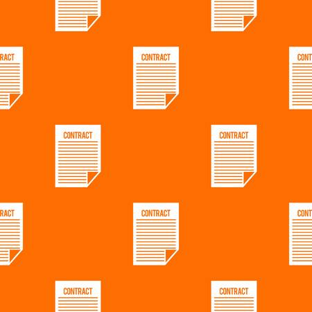 treaty: Contract pattern repeat seamless in orange color for any design. Vector geometric illustration