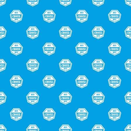 heptagon: Best choise label pattern seamless blue Illustration