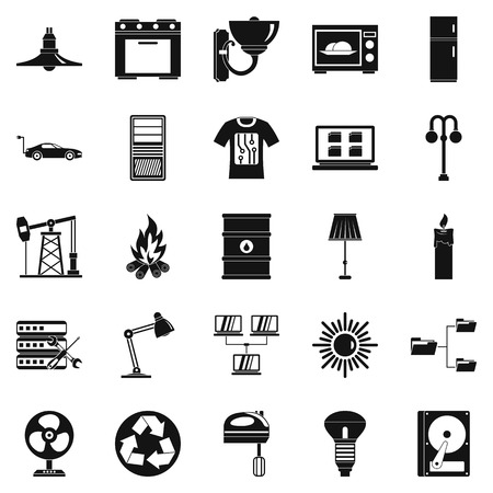 luminary: Transformer icons set. Simple set of 25 transformer vector icons for web isolated on white background Illustration