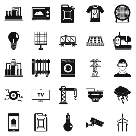 street lamp: Electrician icons set. Simple set of 25 electrician vector icons for web isolated on white background Illustration
