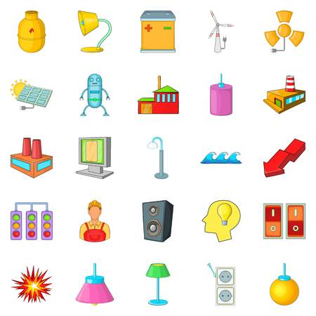Luminary icons set. Cartoon set of 25 luminary vector icons for web isolated on white background
