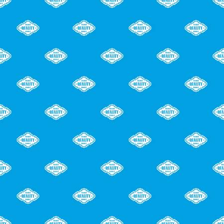 Premium quality product label pattern seamless blue
