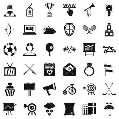 Jeu d'icônes de flèche mouche. Style simple de 36 icônes vectorielles de volée de flèche pour le web isolé sur fond blanc Banque d'images - 84141585
