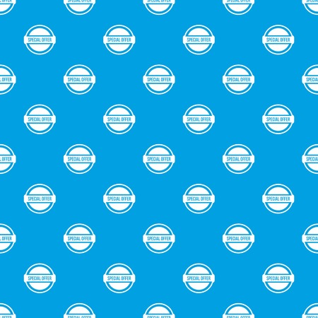 polished: Special offer circle pattern repeat seamless in blue color for any design. Vector geometric illustration