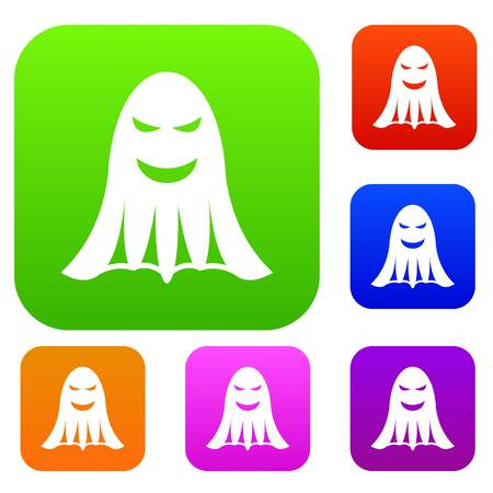 Ghost set icon in different colors isolated vector illustration. Premium collection 向量圖像