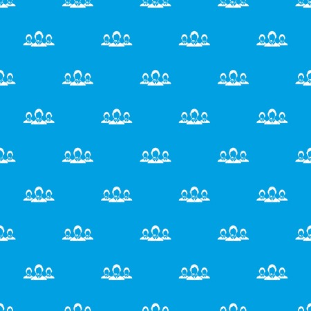 patrón de atención al cliente al cliente patrón sin fisuras en color azul . resumen para el diseño. ilustración vectorial geométrico