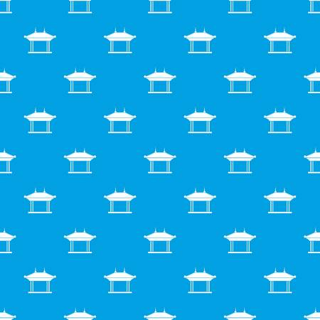Pagode patroon naadloze blauw Stock Illustratie