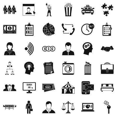 conformity: Conformity icons set, simple style