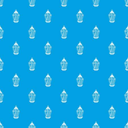 middle: Arabic lantern pattern seamless blue Illustration