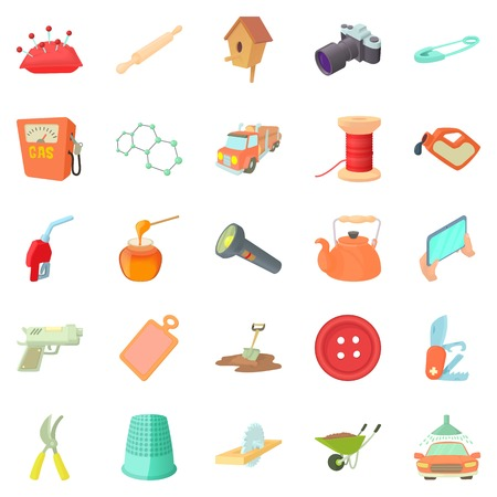 Craft icons set. Cartoon set of 25 craft vector icons for web isolated on white background Illustration