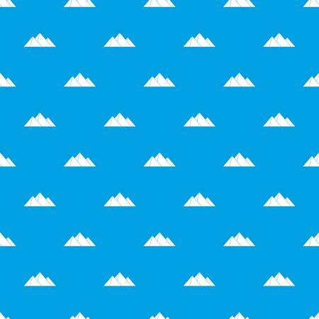 Pyramids pattern repeat seamless in blue color for any design. Vector geometric illustration Illustration