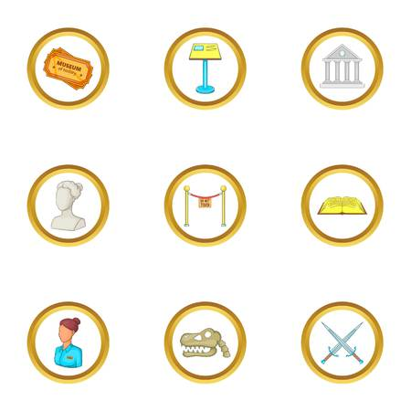 Culture icons set. Cartoon illustration of 9 culture vector icons for web design