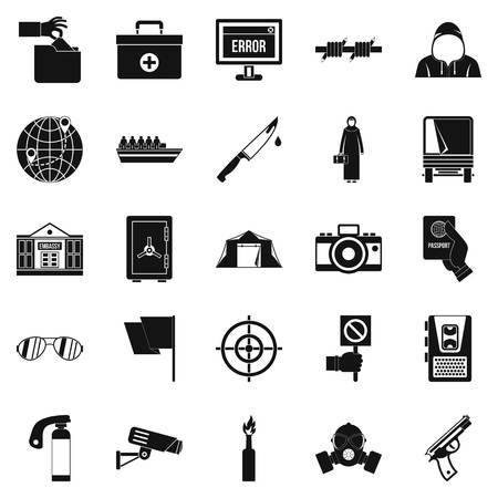 gaffe: Gaffe icons set. Simple set of 25 gaffe vector icons for web isolated on white background Illustration