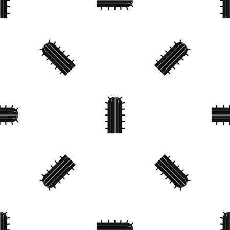 Cereus Candicans cactus pattern seamless black