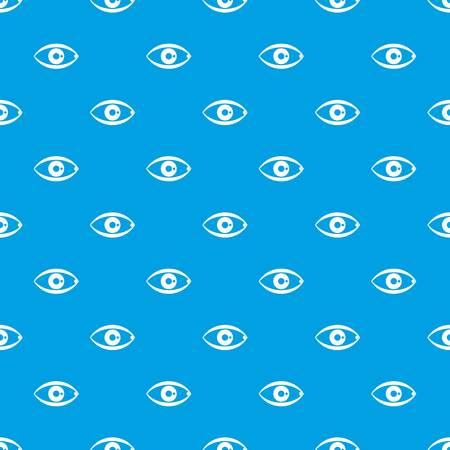 Human eye pattern seamless blue