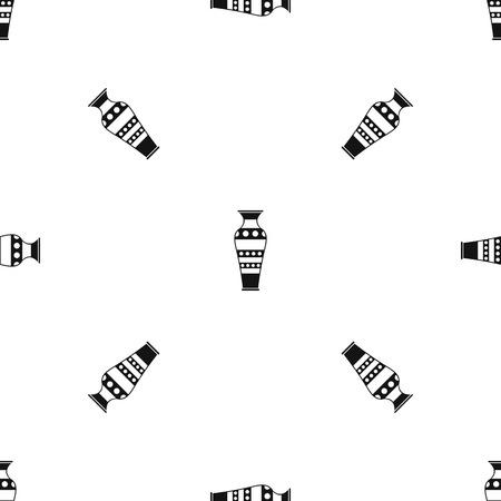 Égyptien vase pattern seamless black Vecteurs