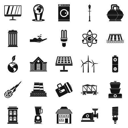 Energy transfer icons set.
