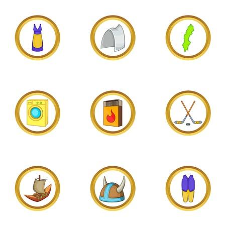 Stockholm icons set, cartoon style