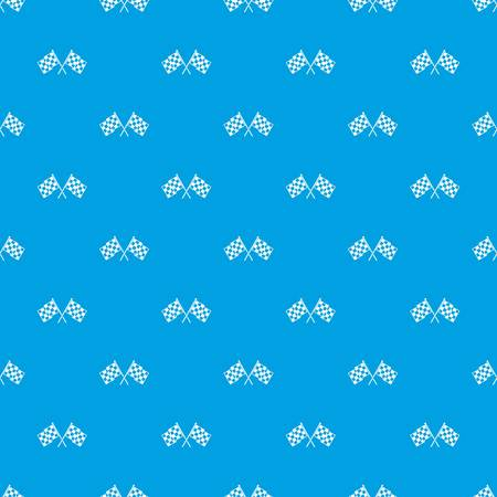 Checkered racing flags pattern seamless blue Illustration