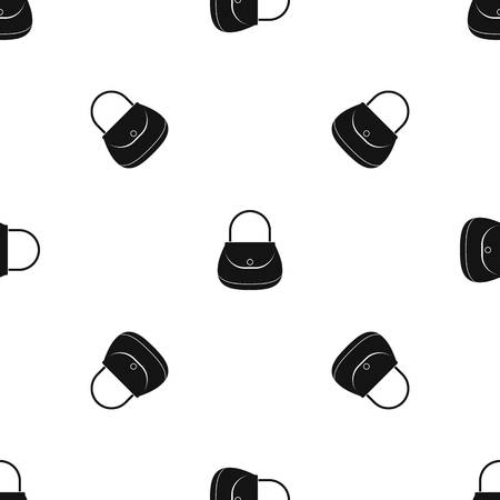 pouch: Woman bag pattern seamless black Illustration