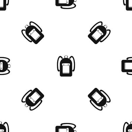 Backpack pattern seamless black