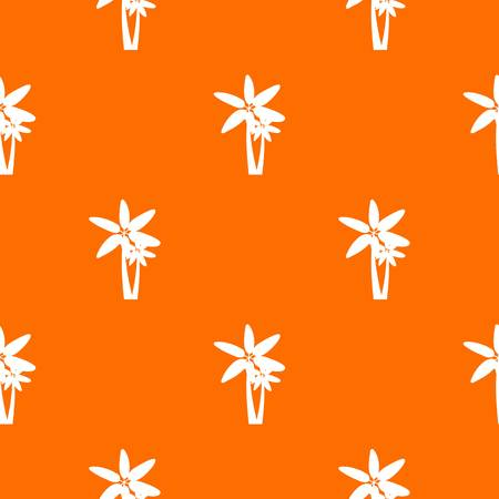 subtropical plants: Two palm trees pattern seamless