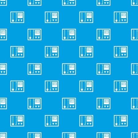 Fire shield pattern repeat seamless in blue color for any design. Vector geometric illustration