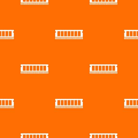 ddr: DVD RAM module for the personal computer pattern repeat seamless in orange color for any design. Vector geometric illustration Illustration