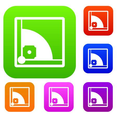 outfield: Baseball field set icon in different colors isolated vector illustration. Premium collection